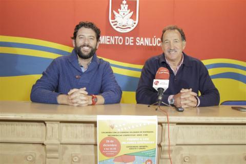 Sergio García y Jesús Villegas en la presentación de la Carrera solidaria San Silvestre (foto Mariqui Romero)