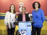 Rosario Monge, Teresa Rúa y Libertad Reyes, en la presentación de las actividades. (Foto: Nicolás G. Becerra)