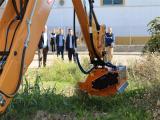 El alcalde comprobó el funcionamiento de la nueva maquinaria. (Foto: Mariqui Romero)