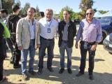 Jesús Villegas, Juan Álvarez, Víctor Mora y Diego Rodríguez, el domingo en el Barrero.