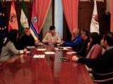 Reunión del delegado de Cultura y Educación, Juan Oliveros, con los IES de Sanlúcar (Foto: Nicolás García)
