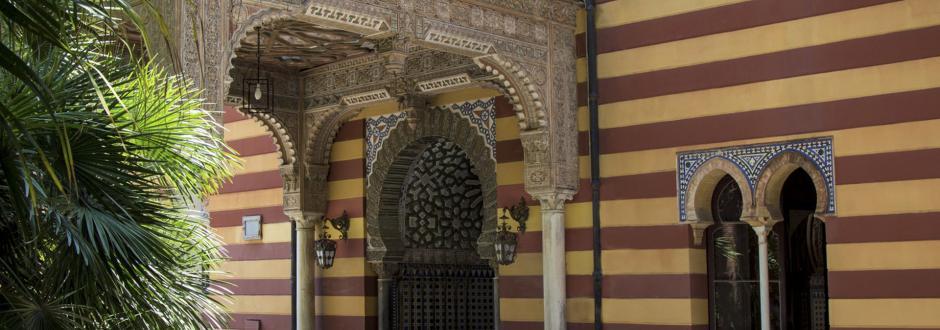 Detalle fachada principal del palacio